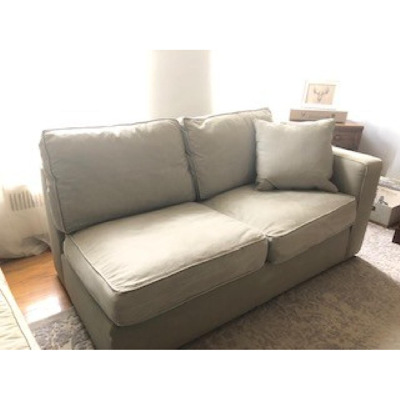 Norwalk 2-Piece Chaise Sectional Sofa in Grey Green - AptDeco