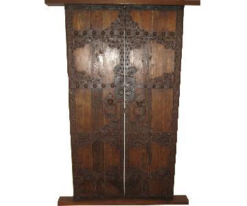 Antique Chinese Elm Court Yard Door Panels