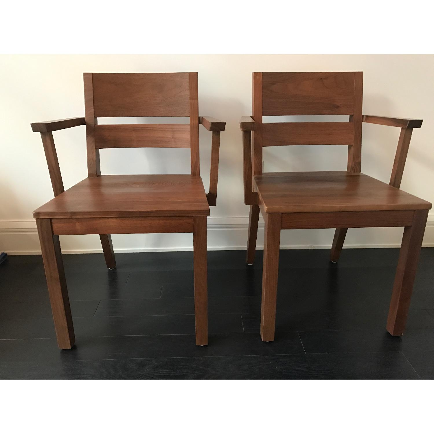 Room & Board Afton Walnut Dining Chair w/ Arms - image-1