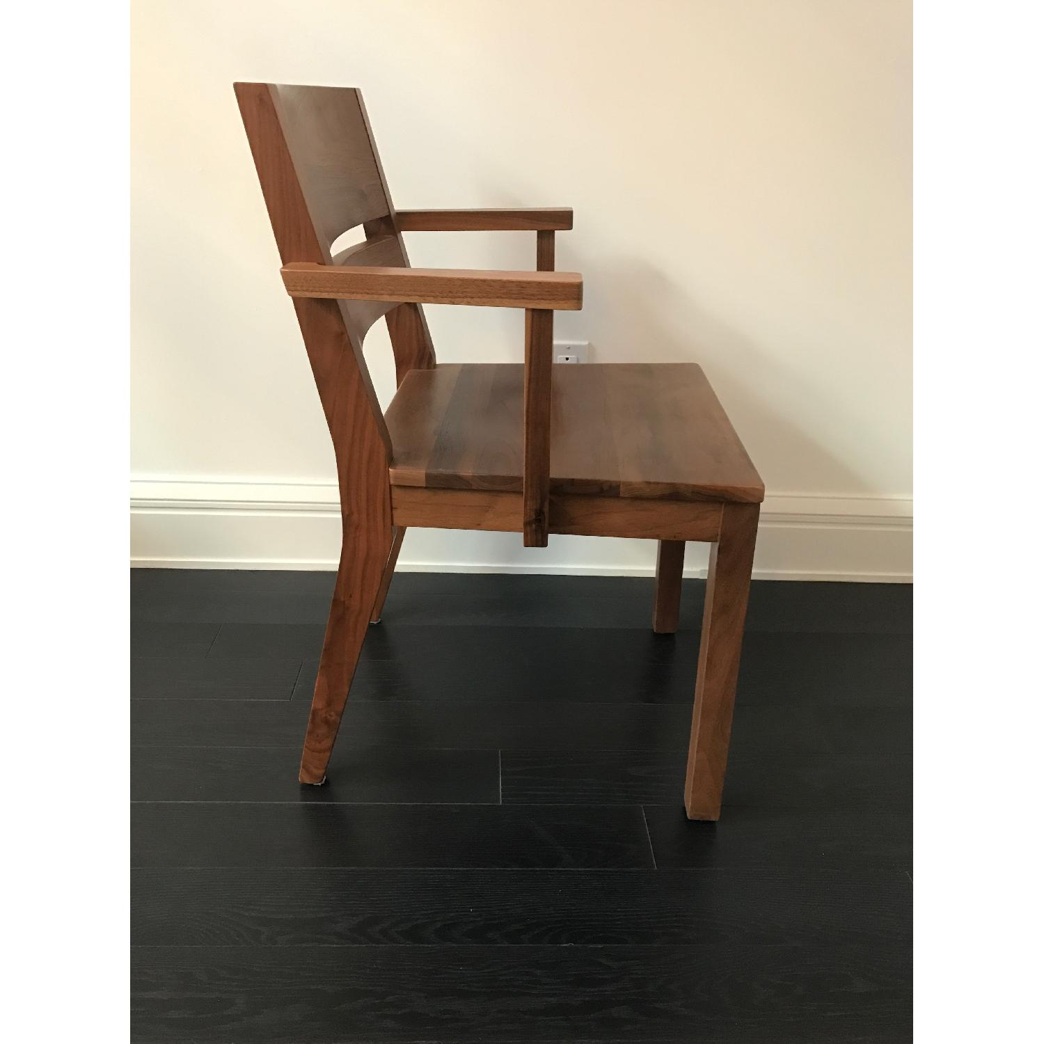 Room & Board Afton Walnut Dining Chair w/ Arms - image-3