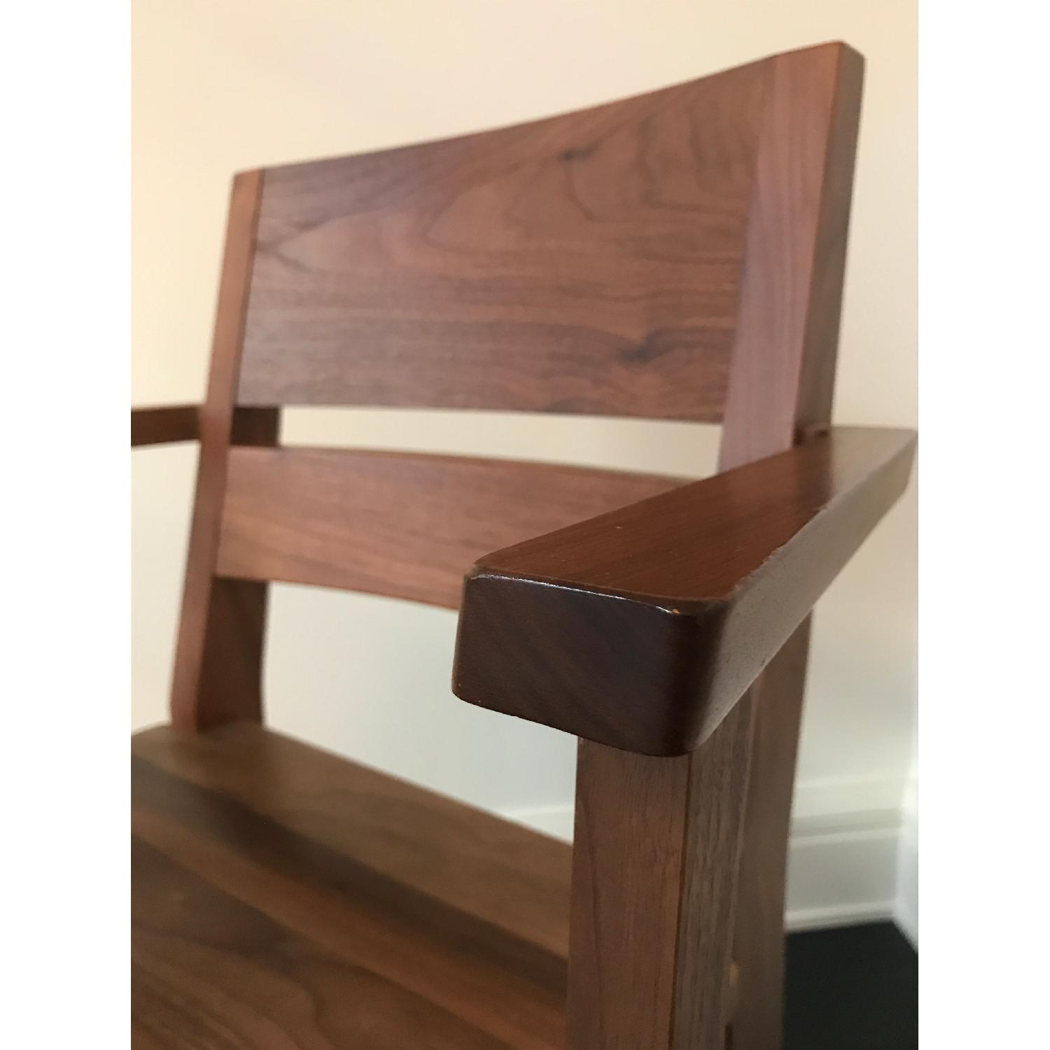 Room & Board Afton Walnut Dining Chair w/ Arms - image-5