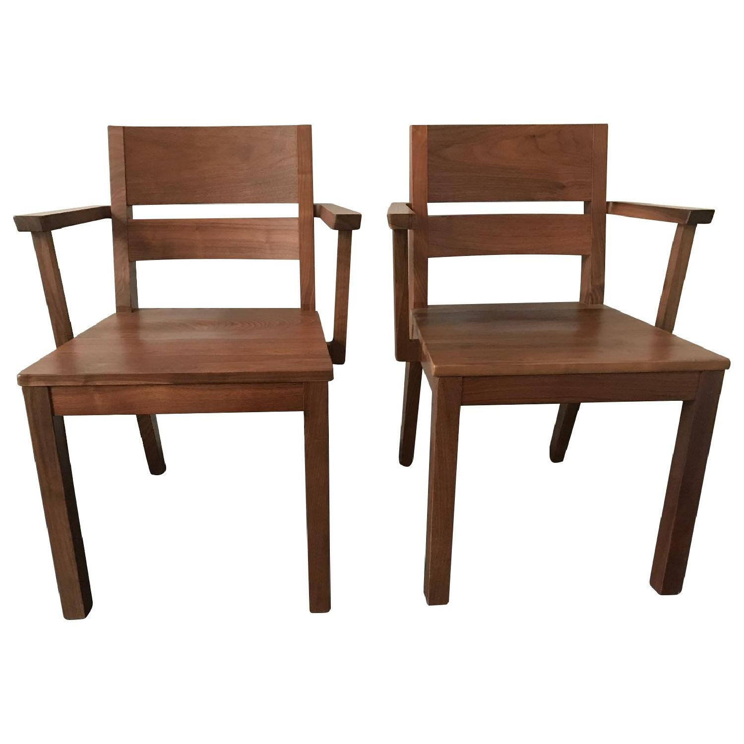 Room & Board Afton Walnut Dining Chair w/ Arms - image-0