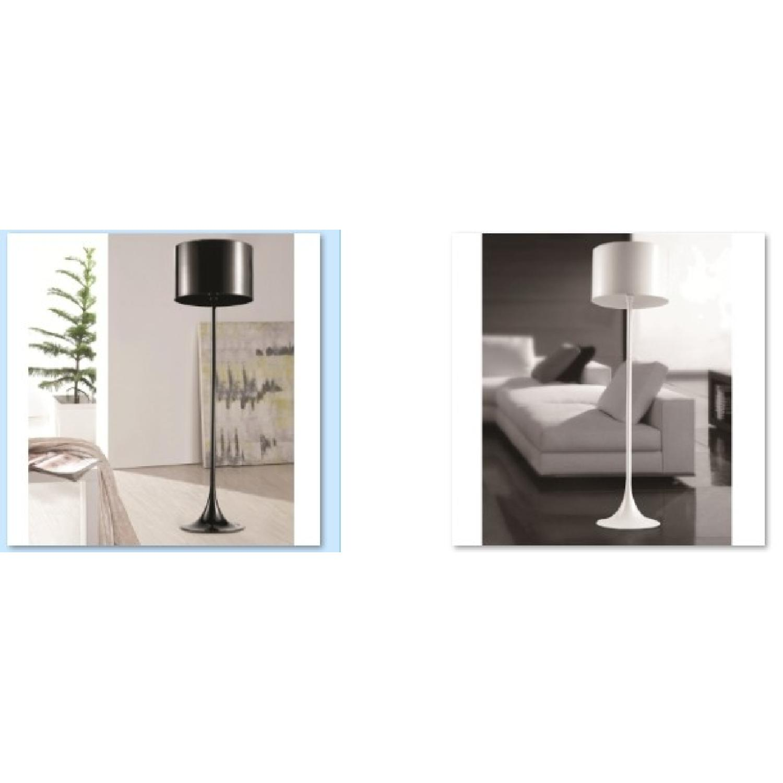 Black Tulip Style Modern Floor Lamp w/ Stainless Steel Lamp -2