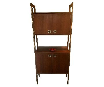 Mid Century Scandinavian Bar/Wall Unit LP Record Stereo Storage