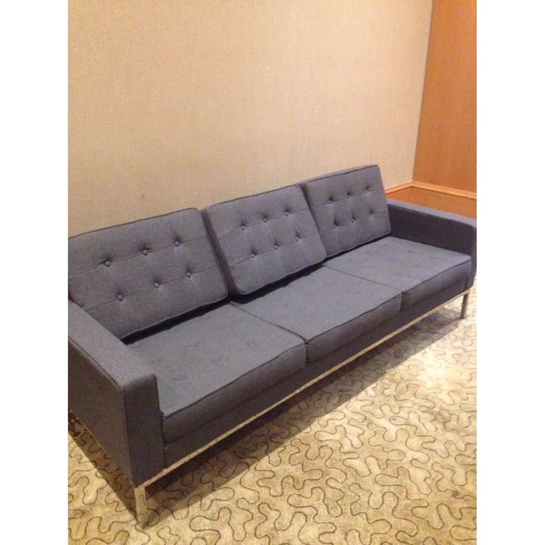 Mid Century Style Modern Button Tufted Sofa In Premium