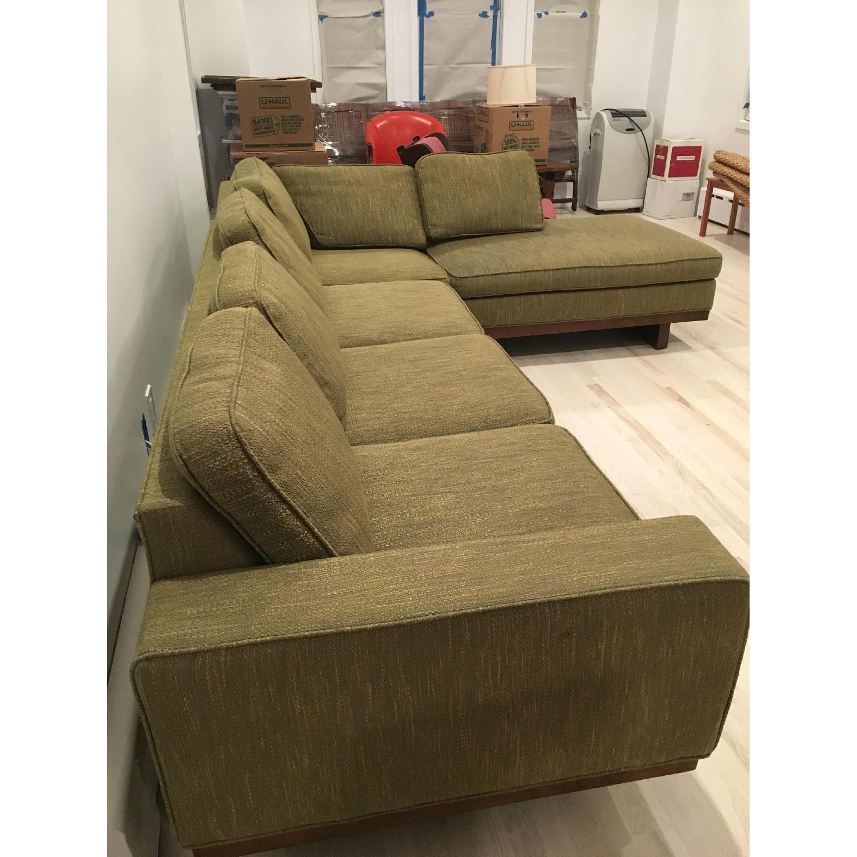 Picture of: Thayer Coggin Milo Baughman Olive Green Sectional Sofa Aptdeco