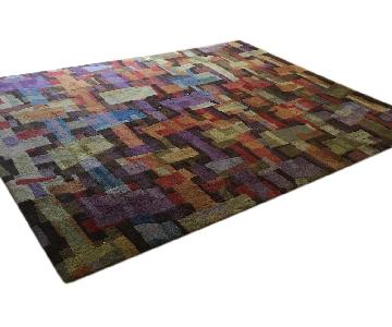 Crate & Barrel Multi-Colored Rug