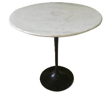 Vintage Saarinen for Knoll Marble Pedestal Side Table