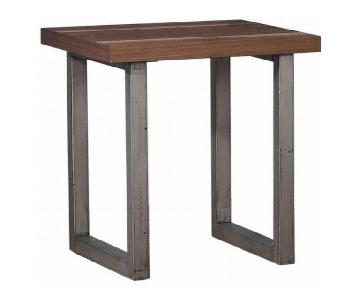 Natural Walnut Espresso End Table