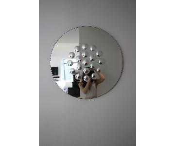 Williams Sonoma Etched Dot Round Mirrors