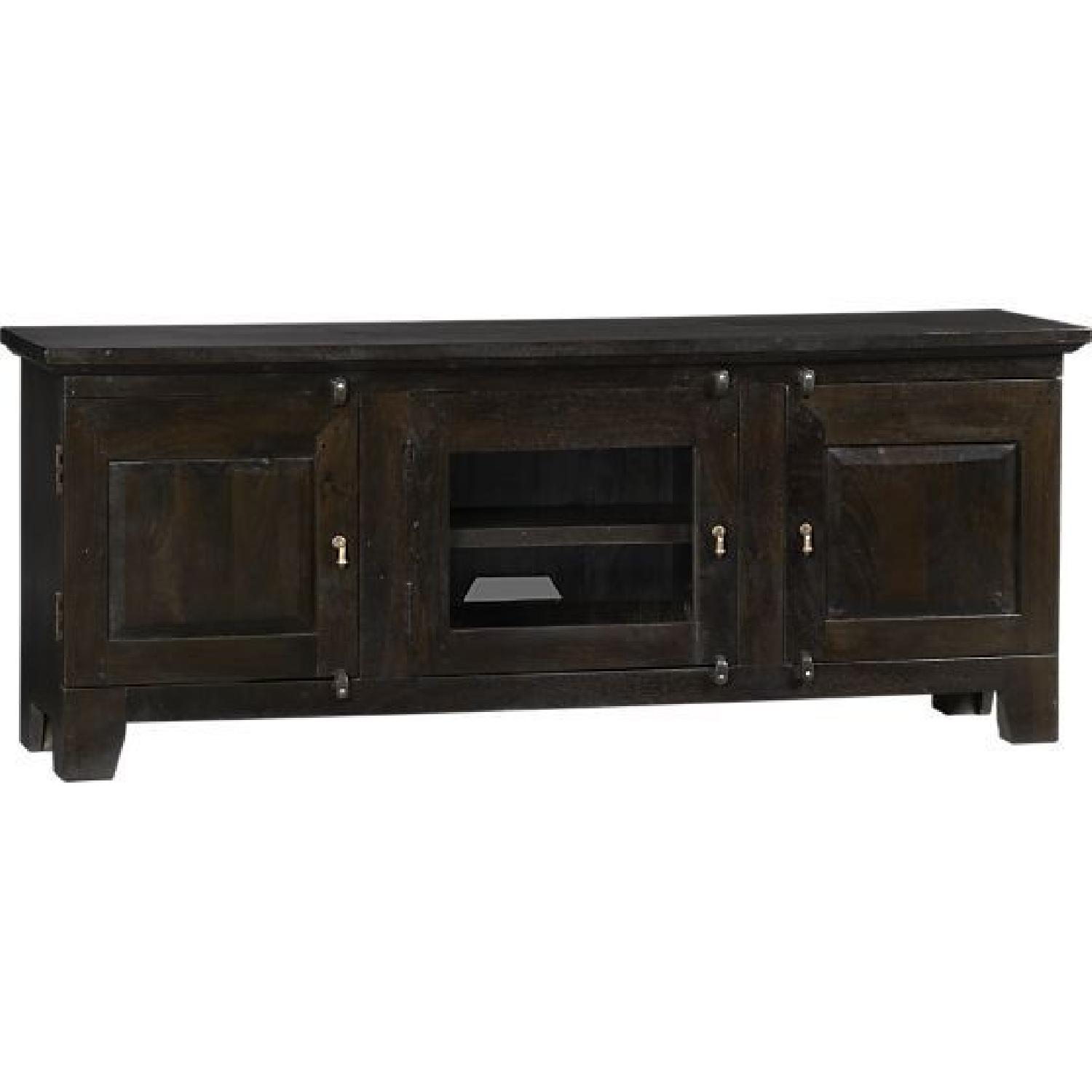 Crate & Barrel 3 Door Media Console - image-0