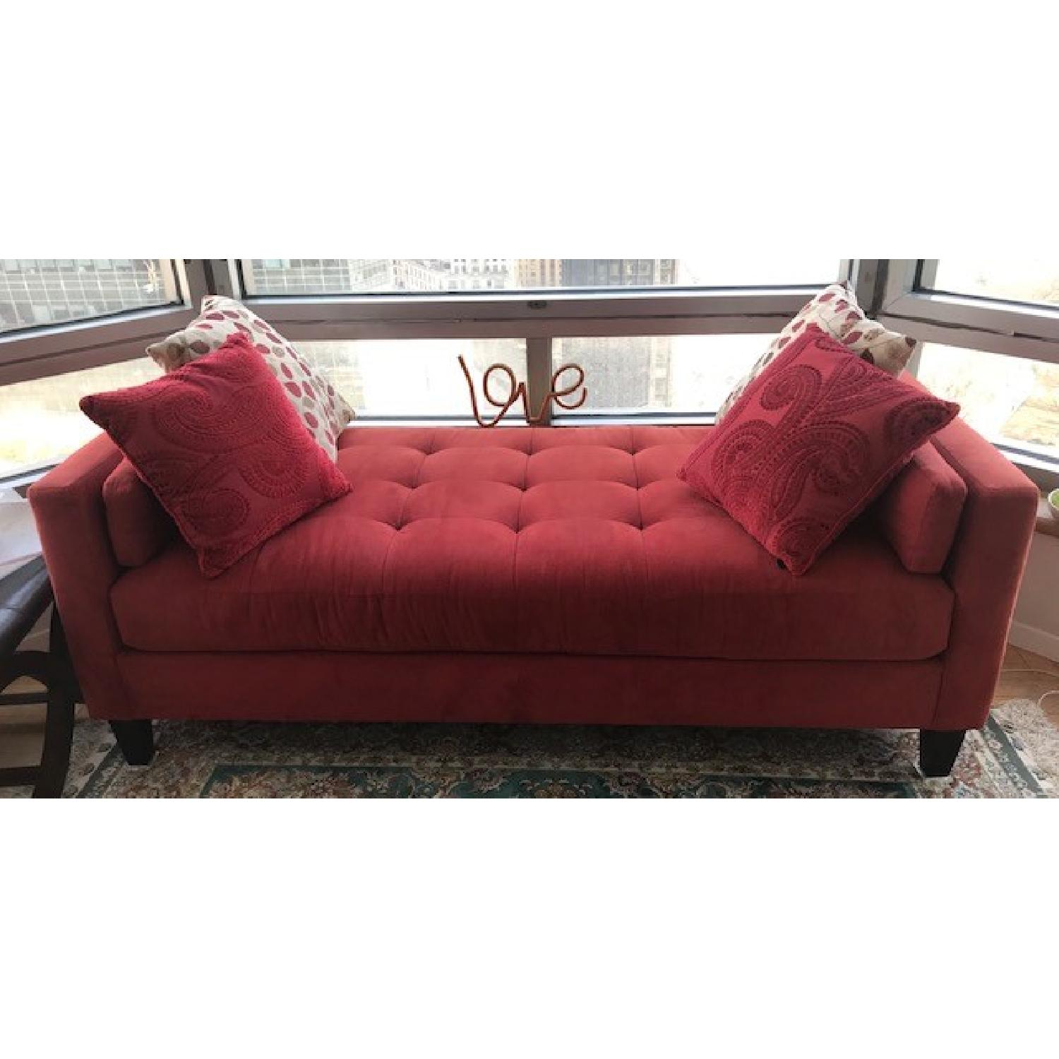 Macy's Max Home Amalfi Red Microfiber Chaise/Daybed - image-2