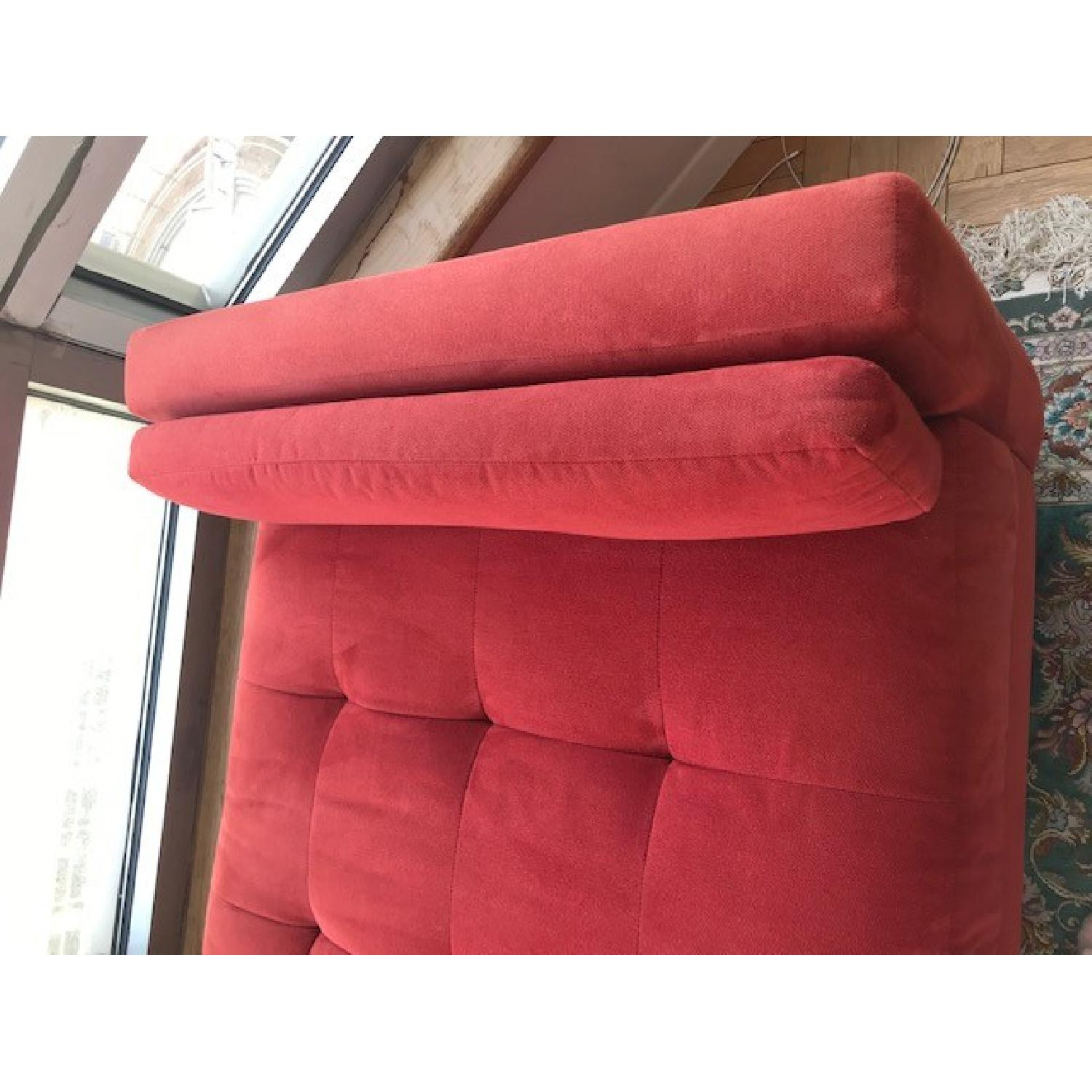 Macy's Max Home Amalfi Red Microfiber Chaise/Daybed - image-4