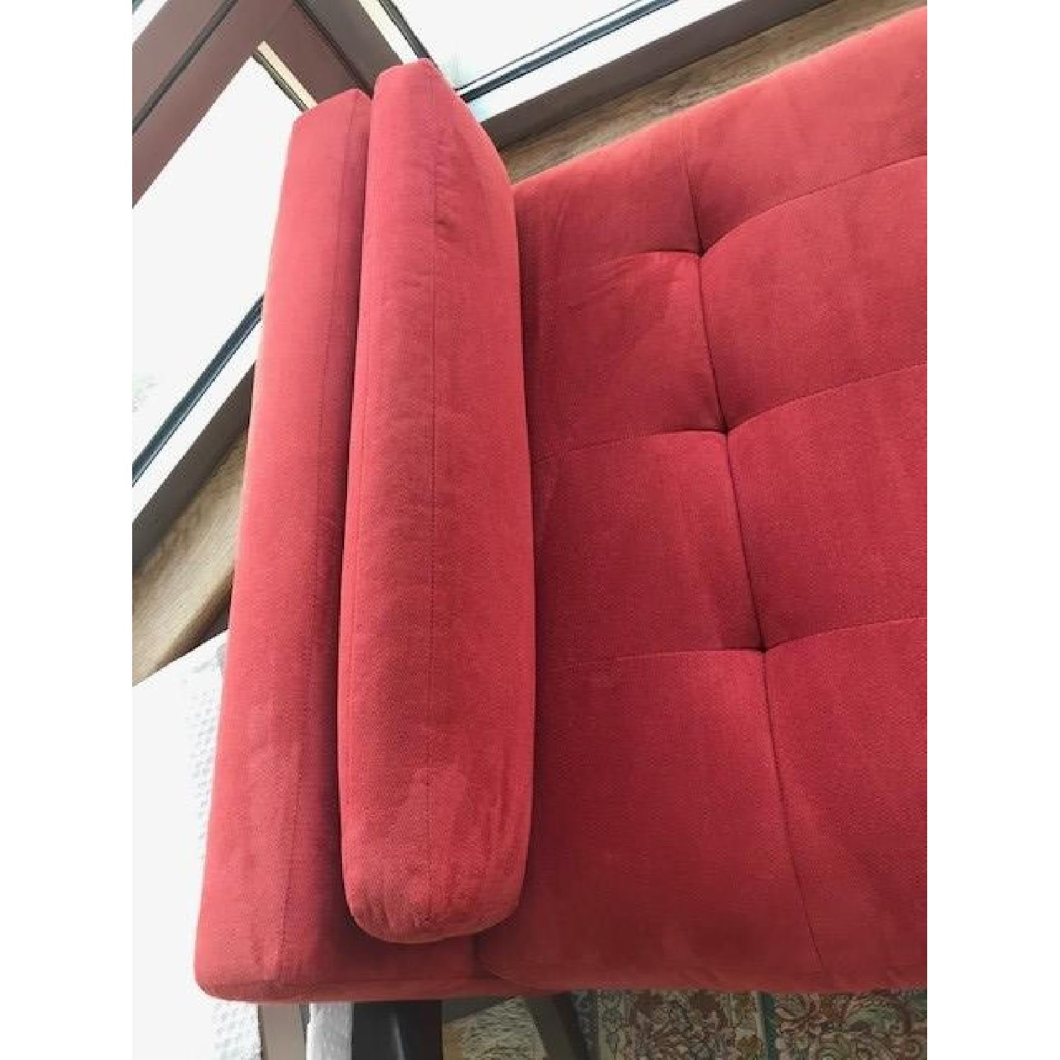 Macy's Max Home Amalfi Red Microfiber Chaise/Daybed - image-5