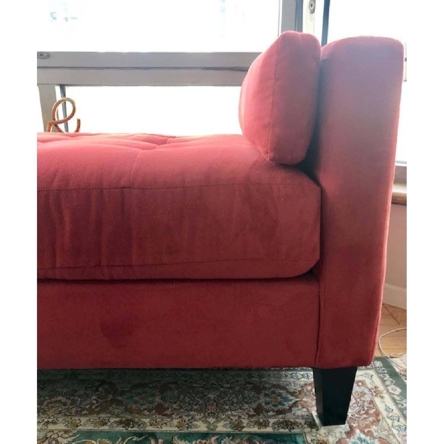 Macy's Max Home Amalfi Red Microfiber Chaise/Daybed - image-6