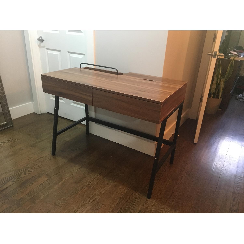 Kinbor Computer/Writing Desk w/ Two Drawers - image-1