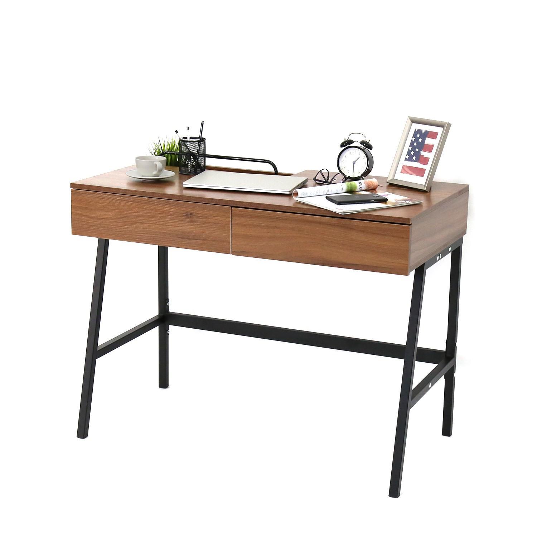 Kinbor Computer/Writing Desk w/ Two Drawers - image-0