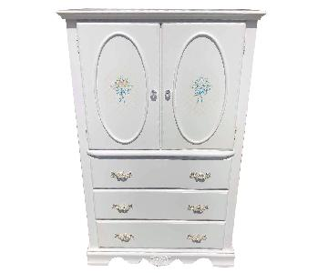Coaster Furniture White Floral Armoire