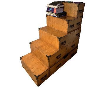 Wooden Step Dresser