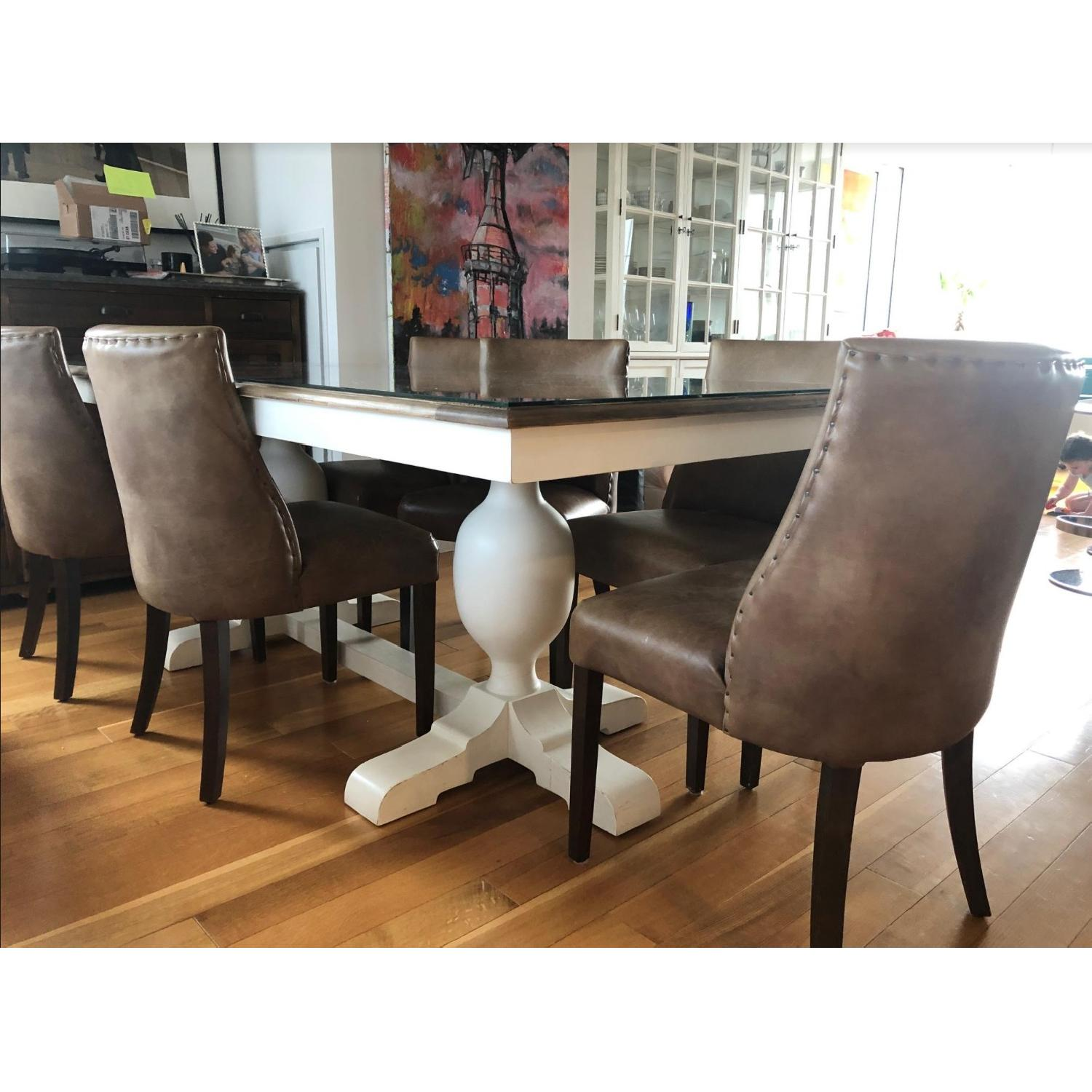 Restoration Hardware Barrel Back Nailhead Dining Chair - image-1