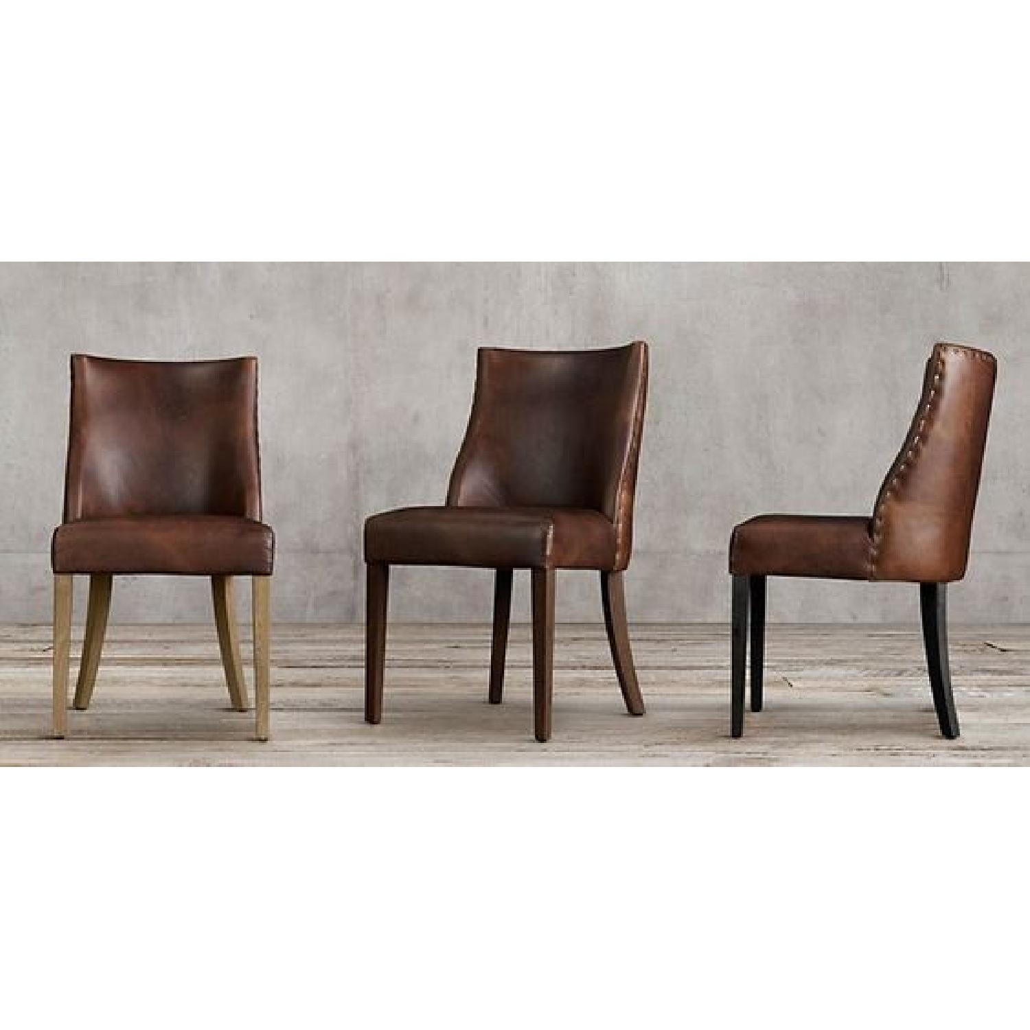 Restoration Hardware Barrel Back Nailhead Dining Chair - image-0