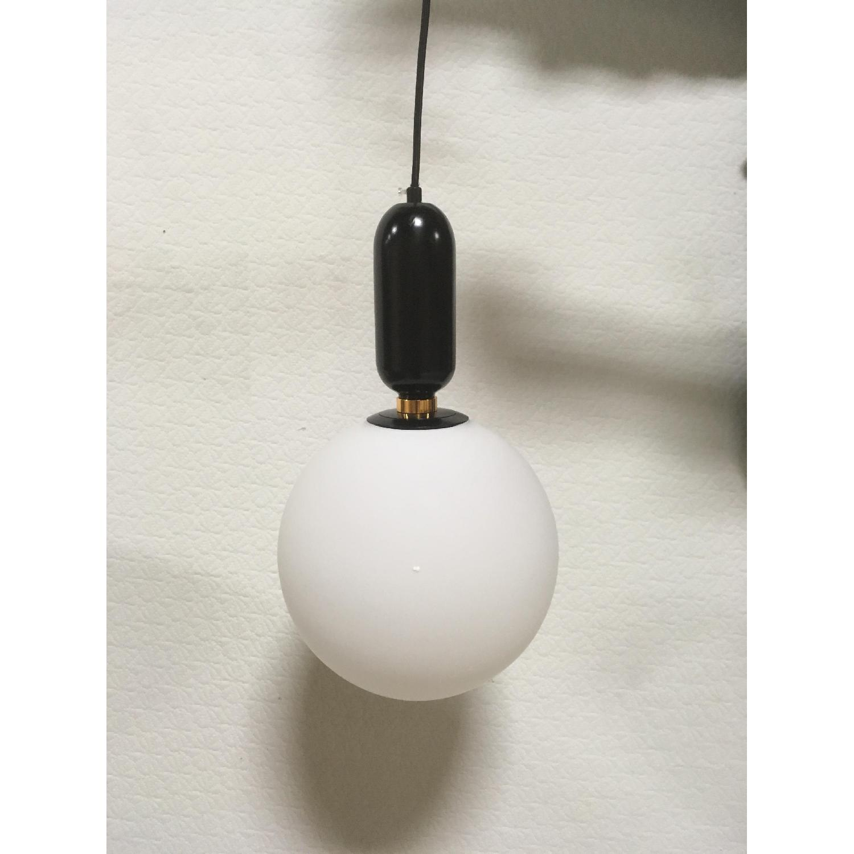 Black Globe Pendant Light - image-1