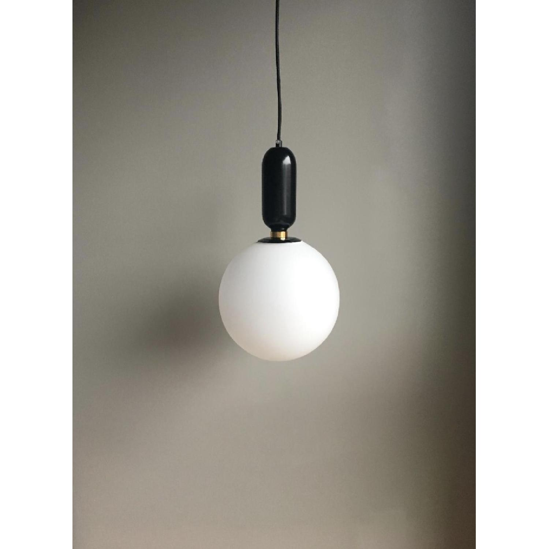 Black Globe Pendant Light - image-2