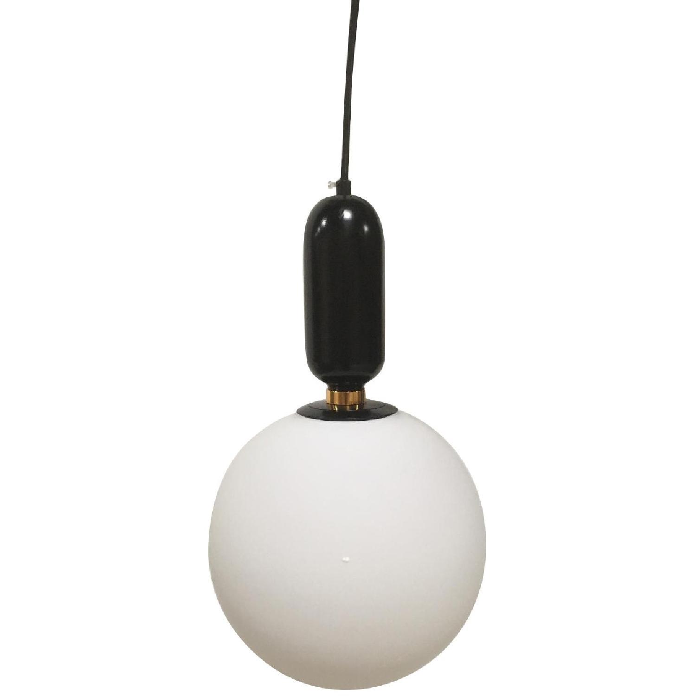 Black Globe Pendant Light - image-0