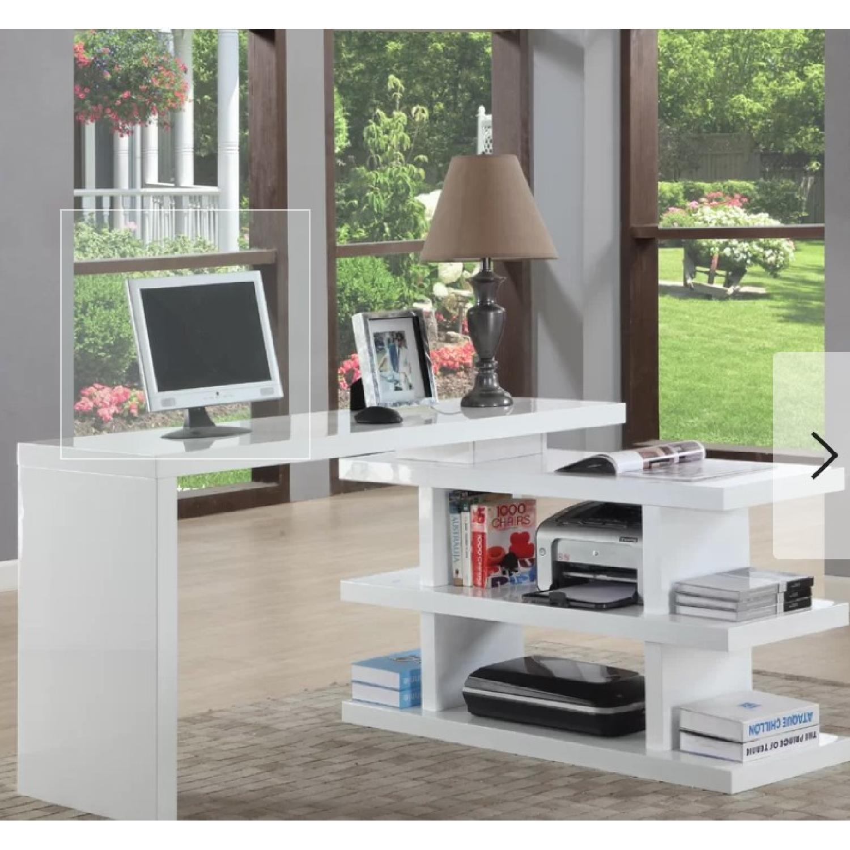 AllModern L Shape Credenza Desk - image-1