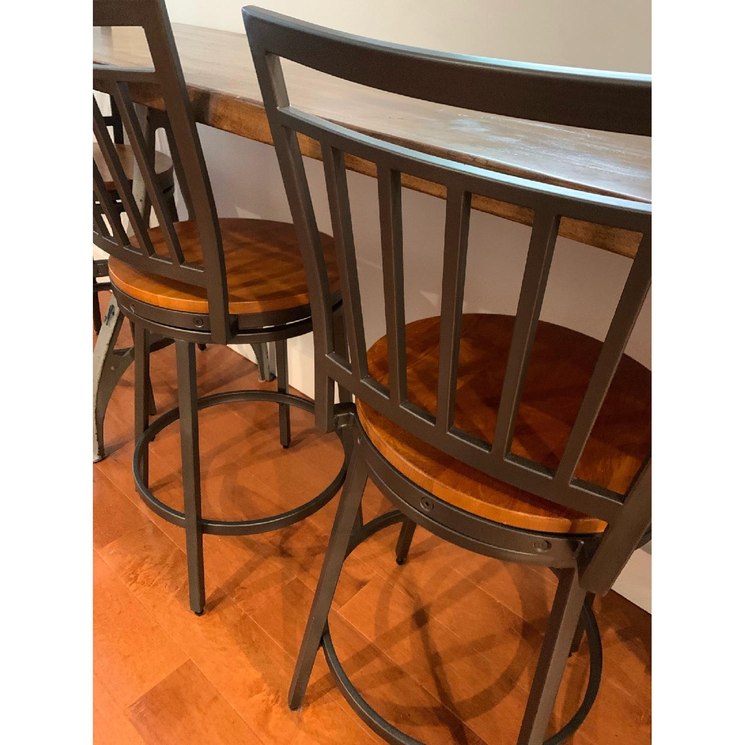 Industrial Wooden Table w/ 4 Chairs - image-2