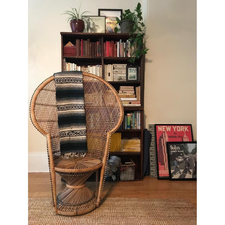 Vintage Peacock Rattan Chair - image-1