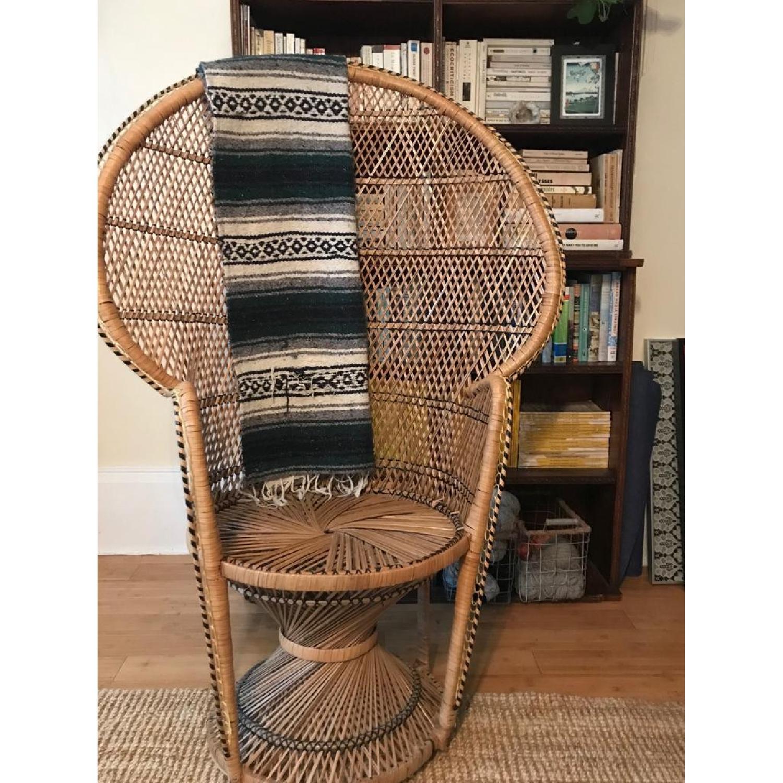 Vintage Peacock Rattan Chair - image-2
