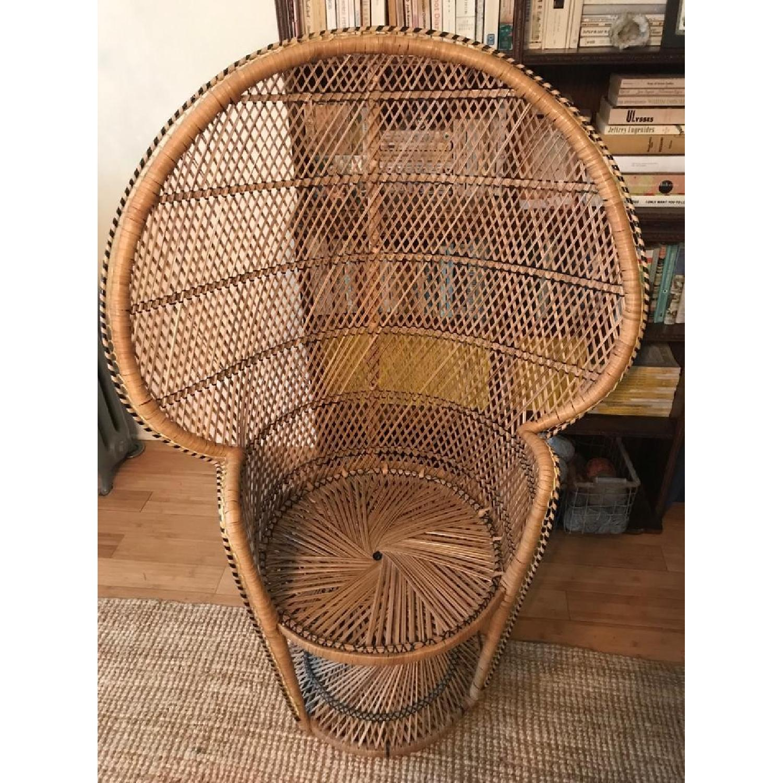 Vintage Peacock Rattan Chair - image-3