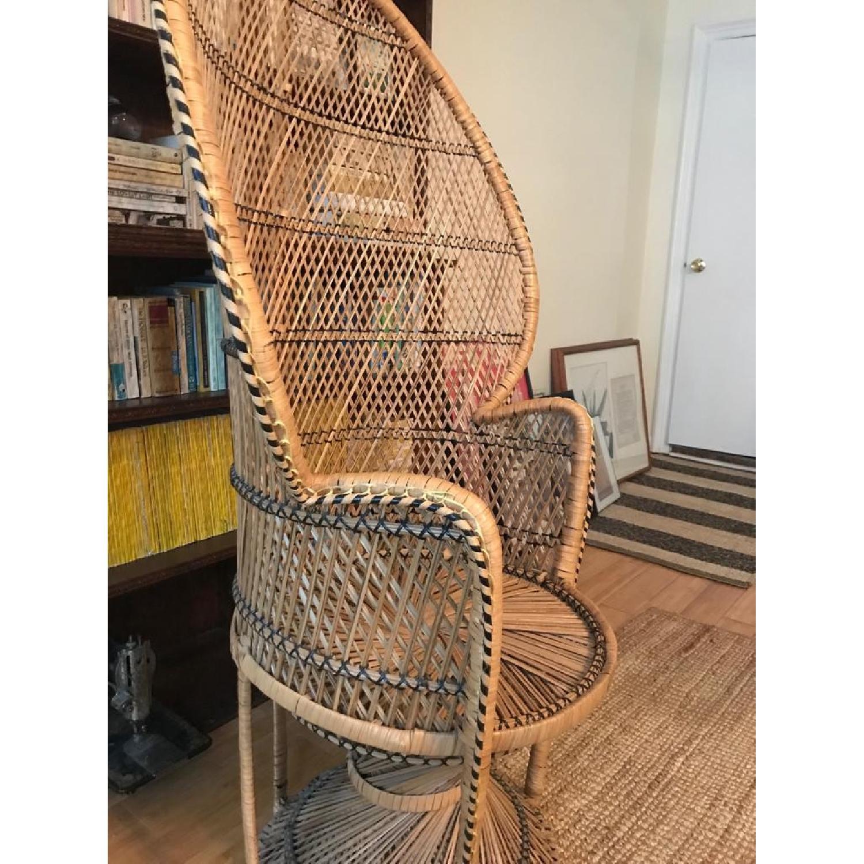 Vintage Peacock Rattan Chair - image-4