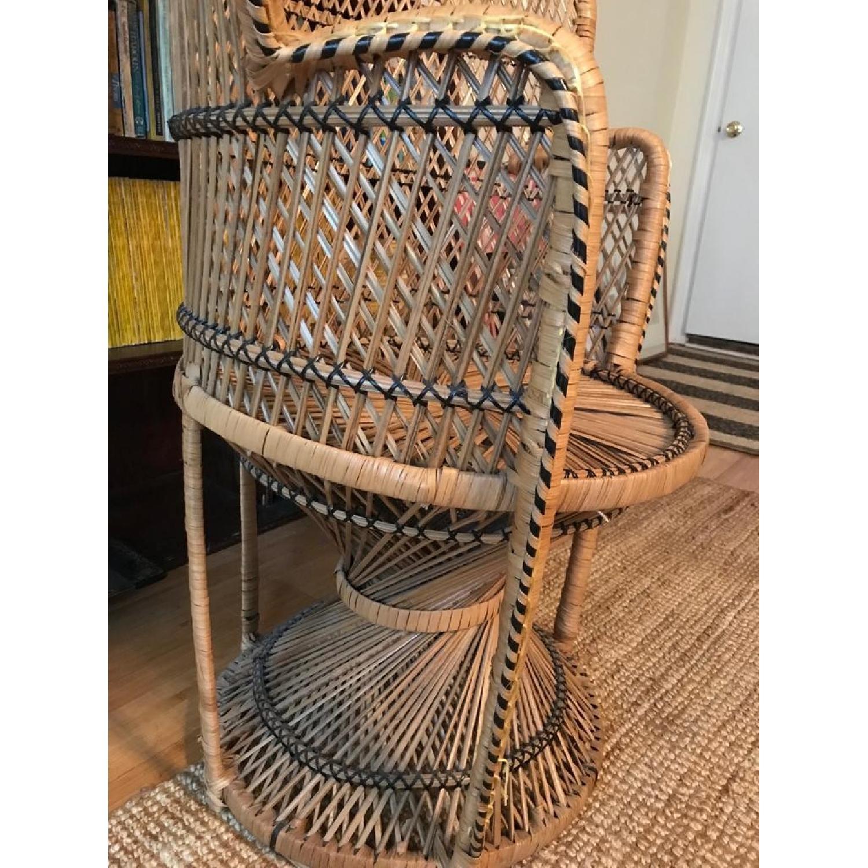 Vintage Peacock Rattan Chair - image-5