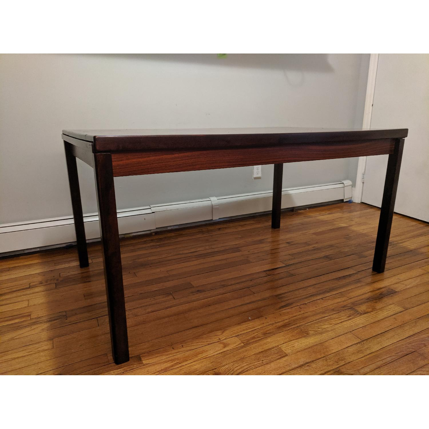 Danish Mid-Century Rosewood Extension Dining Table - image-1