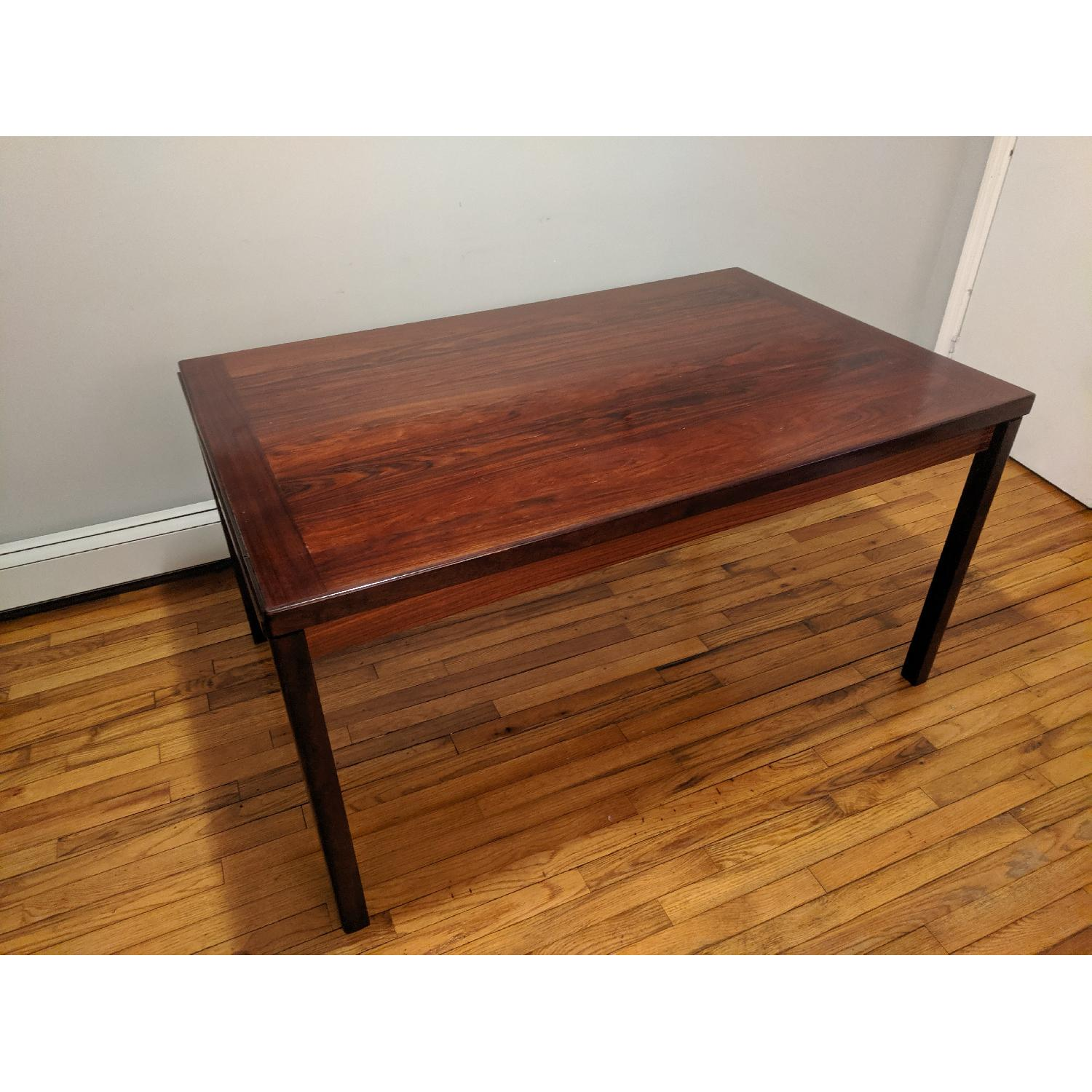 Danish Mid-Century Rosewood Extension Dining Table - image-2