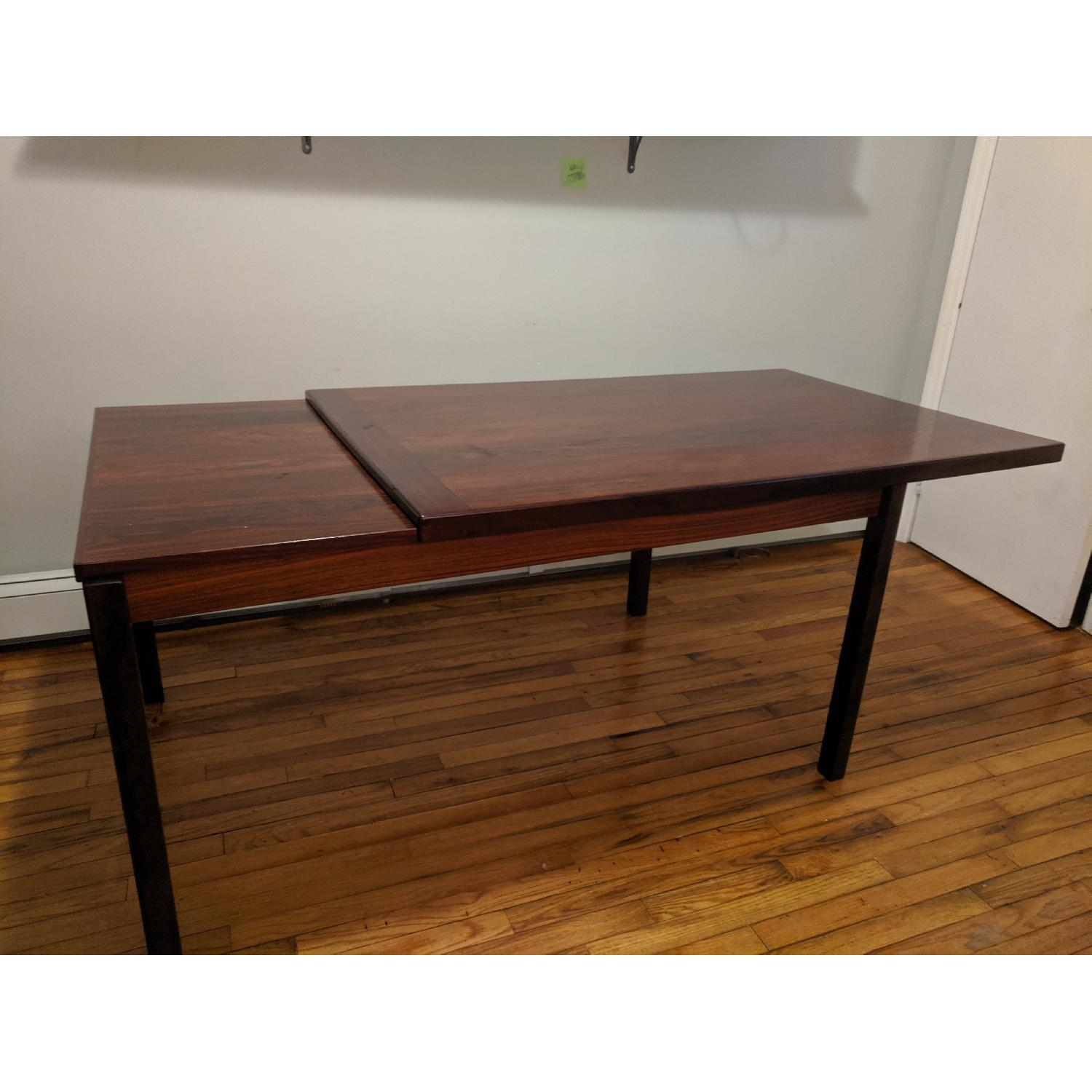 Danish Mid-Century Rosewood Extension Dining Table - image-5