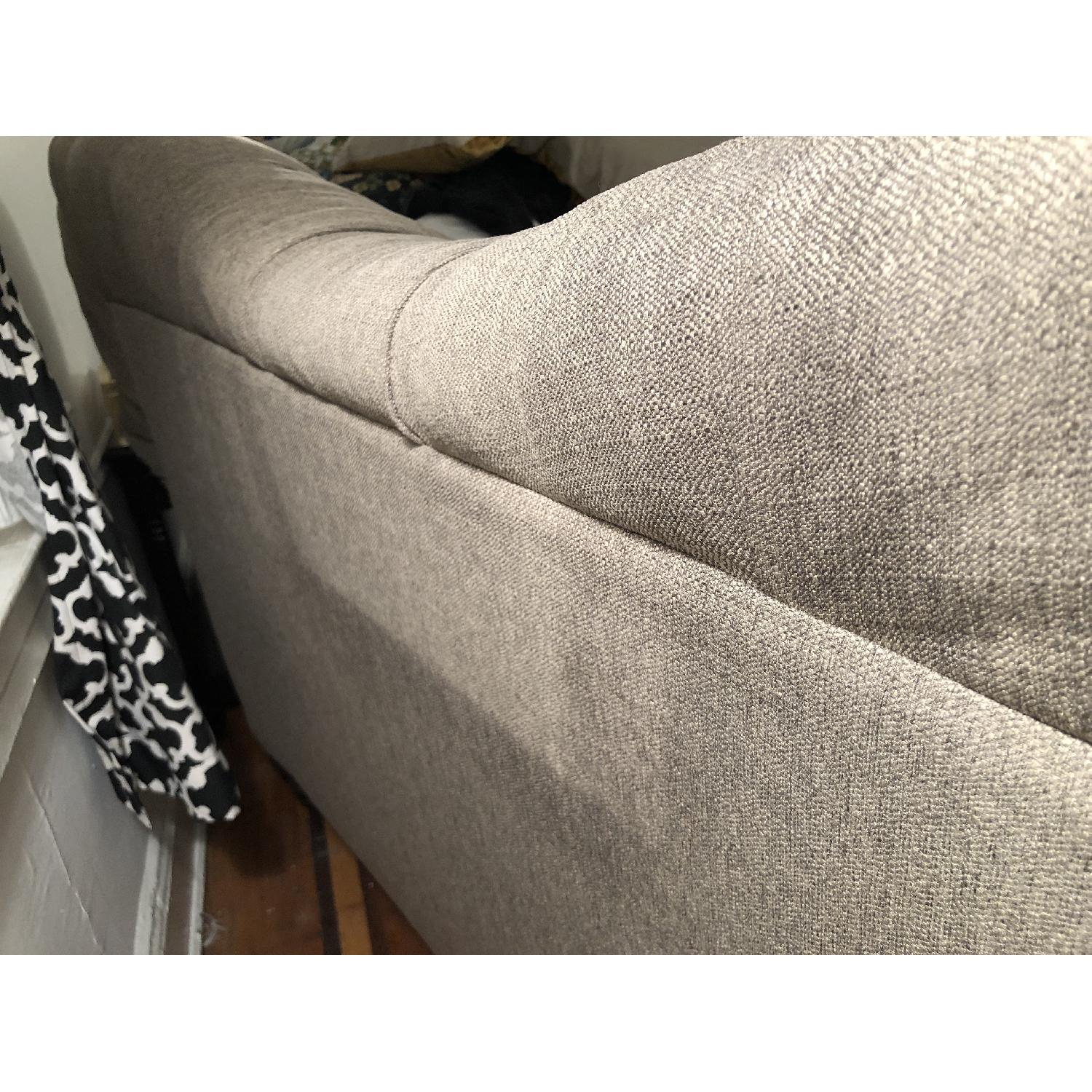Gray/Natural Tufted Loveseat - image-3