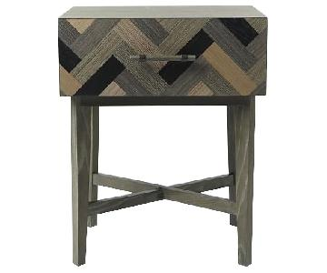 West Elm Parquetry Nightstands