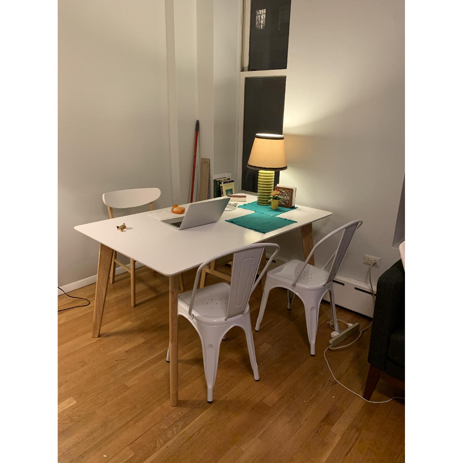 Wrought Studio Mid-Century Expandable Wood Dining Table - image-1
