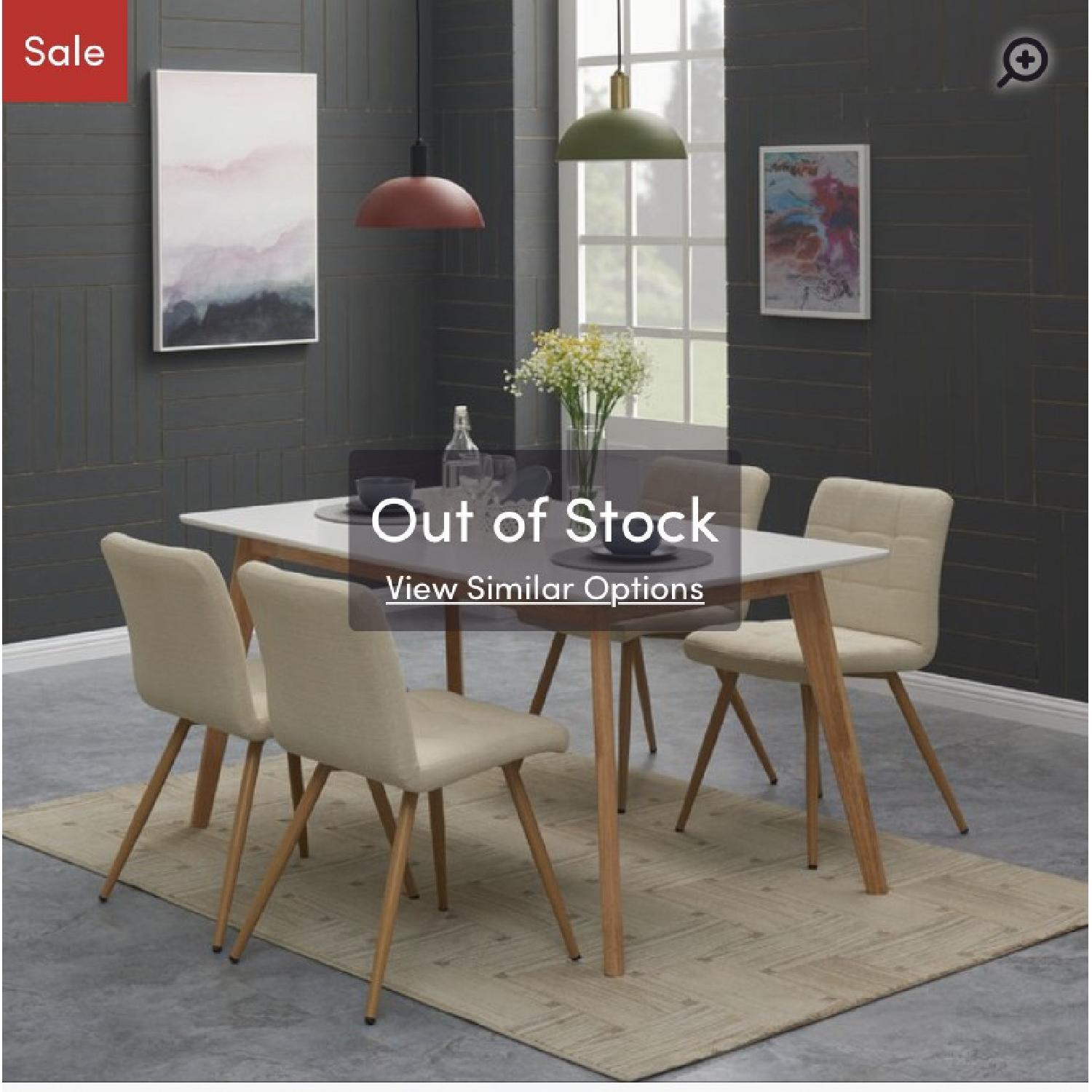 Wrought Studio Mid-Century Expandable Wood Dining Table - image-2