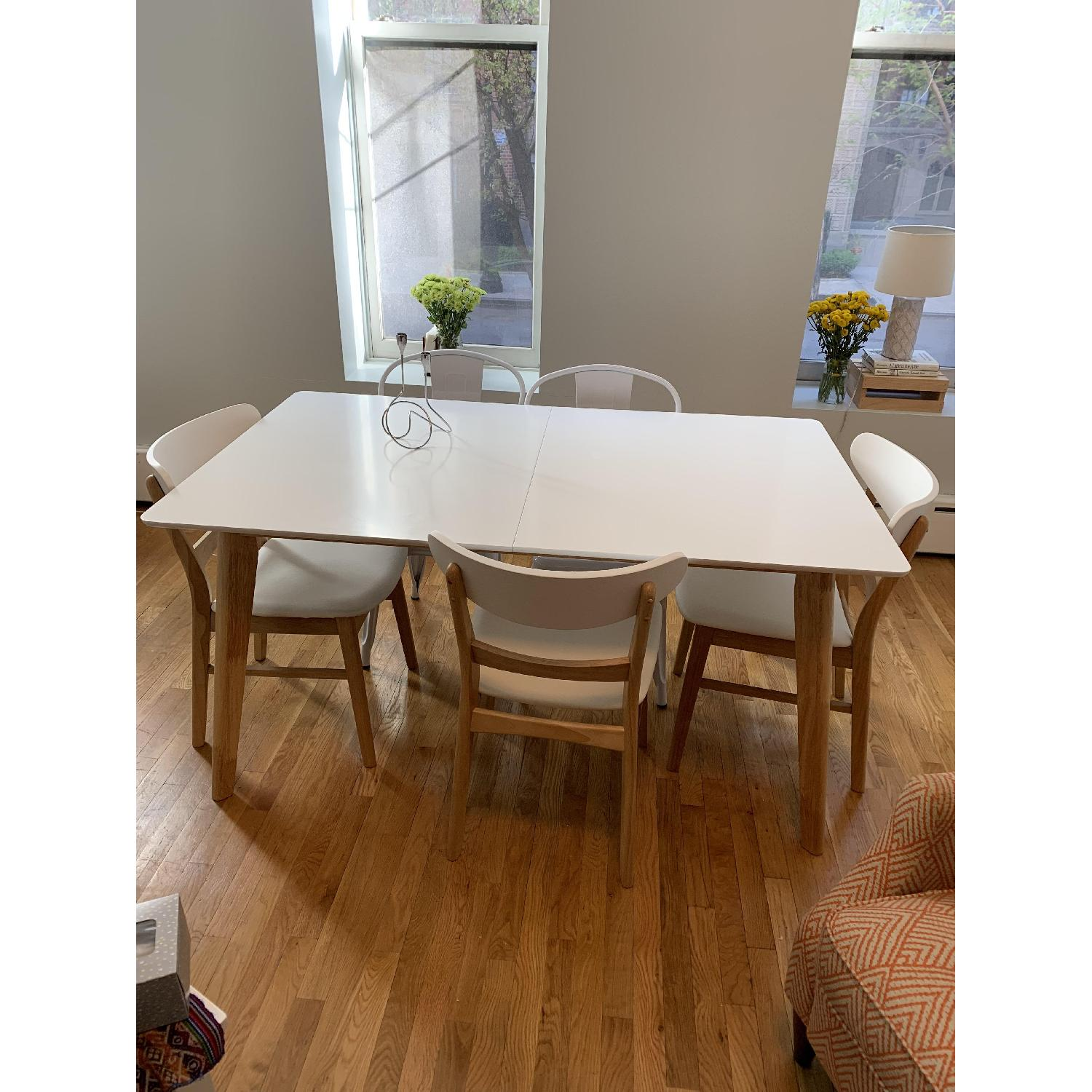 Wrought Studio Mid-Century Expandable Wood Dining Table - image-3