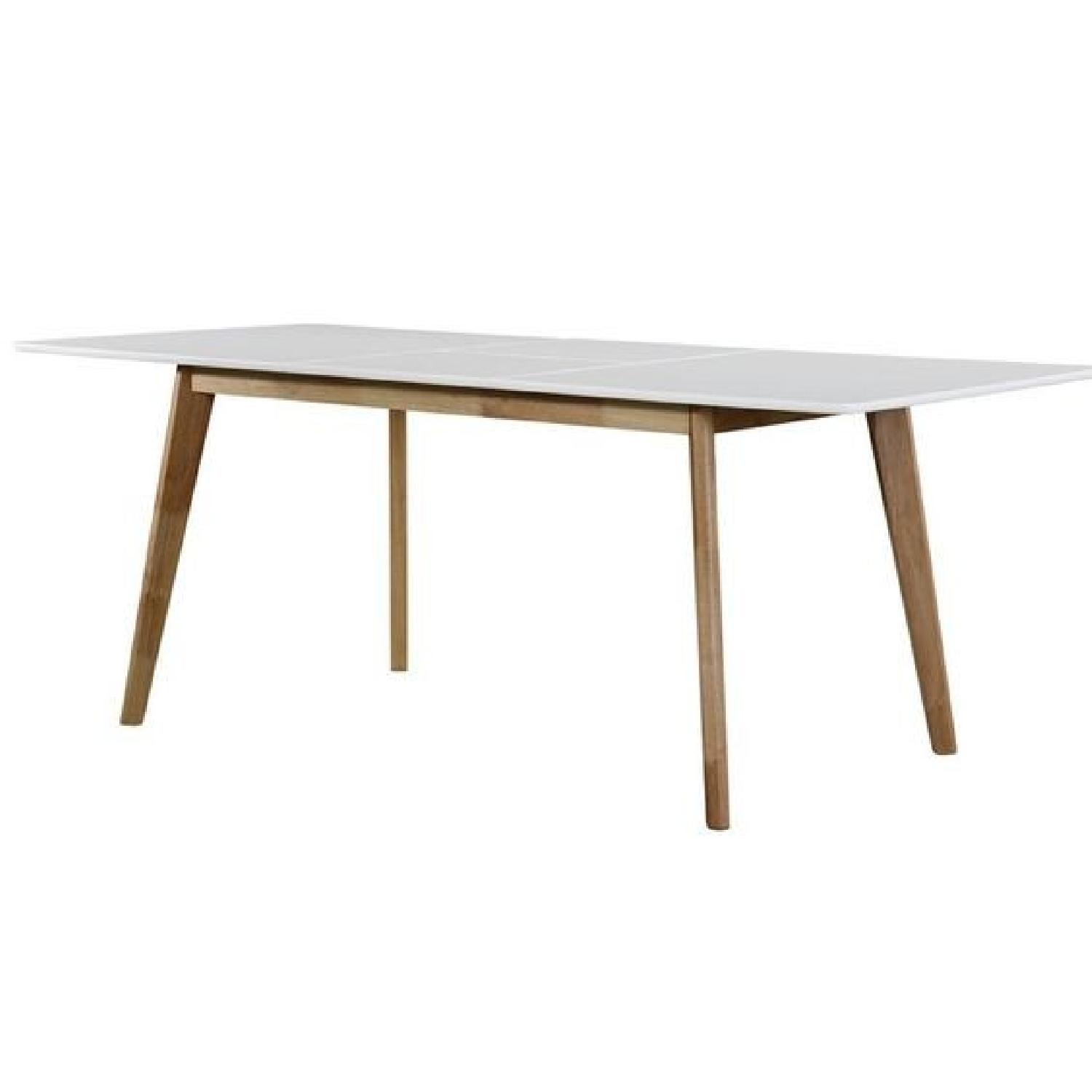 Wrought Studio Mid-Century Expandable Wood Dining Table - image-0