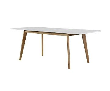 Wrought Studio Mid-Century Expandable Wood Dining Table
