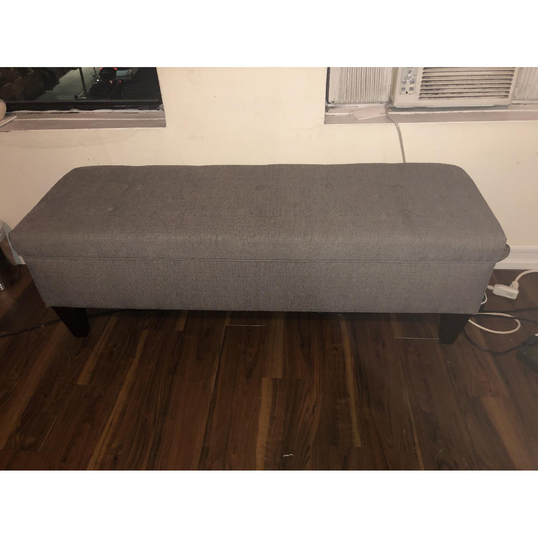 MJL Furniture Designs Brook Collection Storage Bench - image-1
