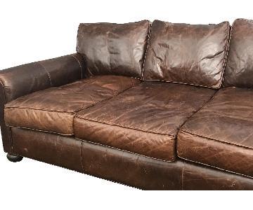 Restoration Hardware Lancaster Brompton Leather Sofa