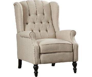 Andover Mills Leonie Light Beige Recliner Chair