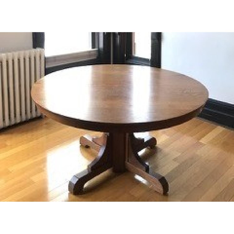 Stickley Gustav Round Oak Dining Table - image-1