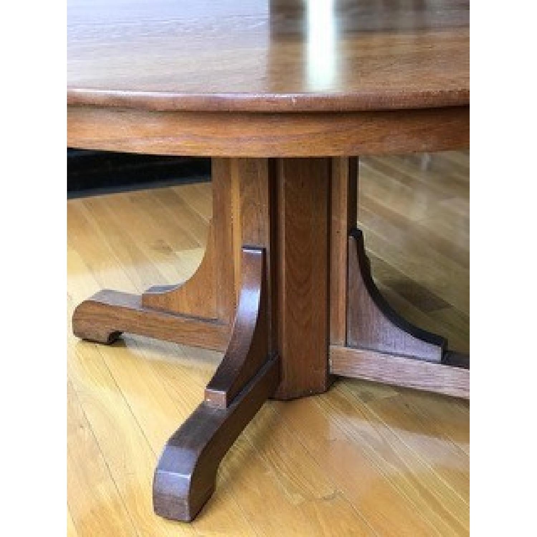 Stickley Gustav Round Oak Dining Table - image-2
